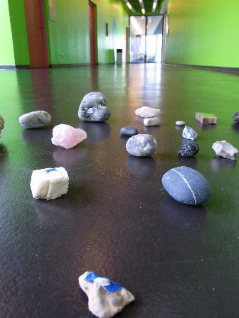 Stone installation at the Laban Centre