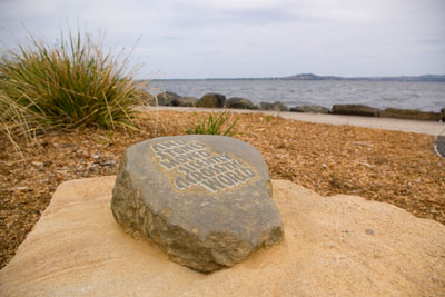MIgrating Stone number 3 at Kanahooka Point, NSW, Australia